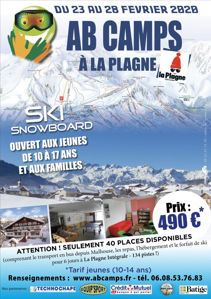 Affiche Stage Ski 2020 AB Camps